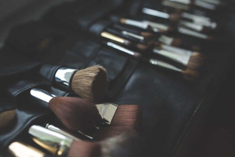 Trousse en coton pour maquillage
